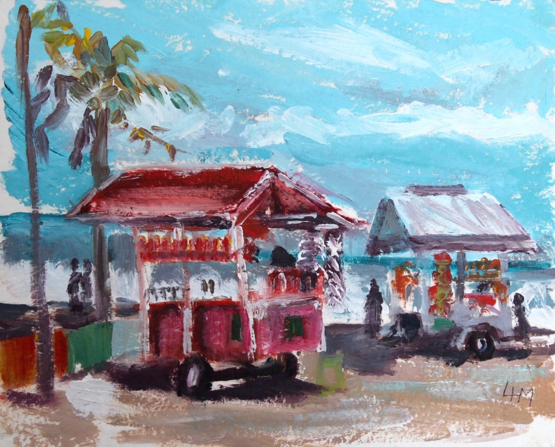 Linda H Matthews - Granita Stalls -Puerto Limone Costa Rica