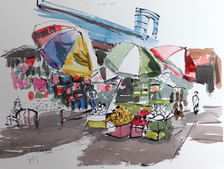 Linda H Matthews - Market Stall -Puerto Limone, Costa Rica