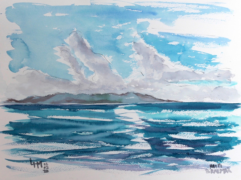 Linda H Matthews - Republique de Dominica _ Aquarelle